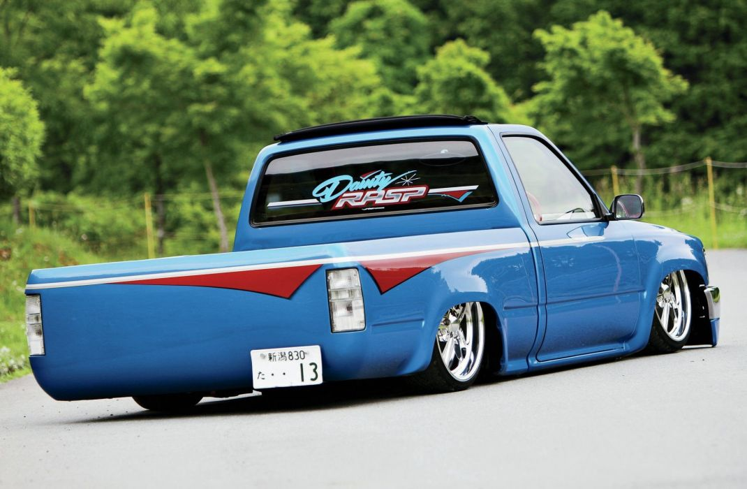 1996 Toyota Hilux pickup custom tuning lowrider wallpaper