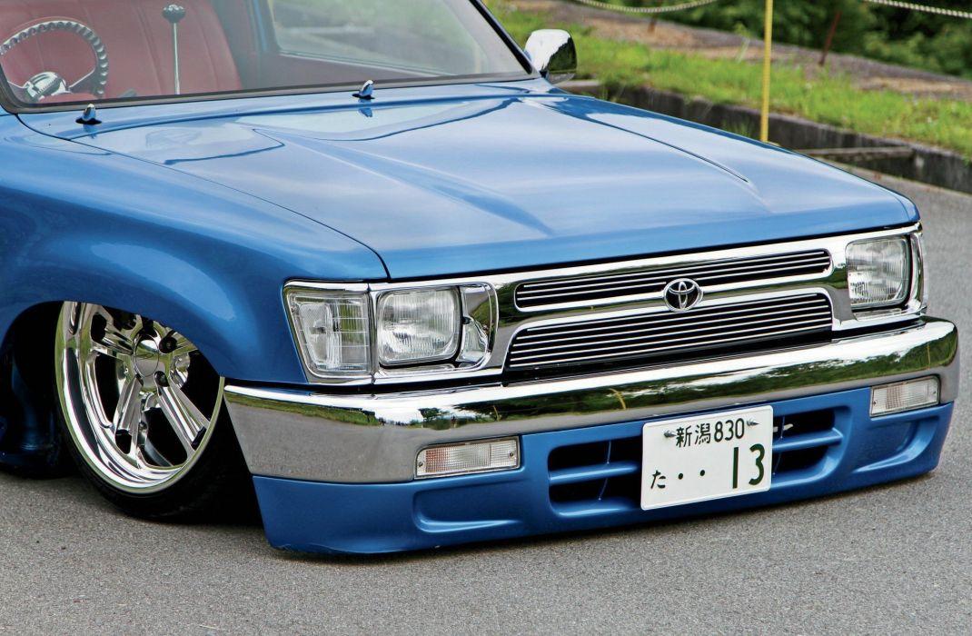 1996 Toyota Hilux pickup custom tuning lowrider wallpaper