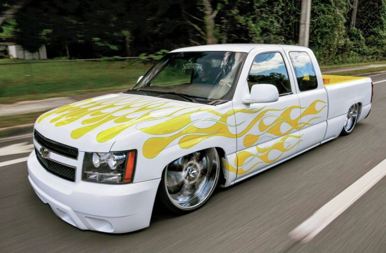 2004 Chevrolet Silverado pickup custom tuning lowrider hot rod rods wallpaper