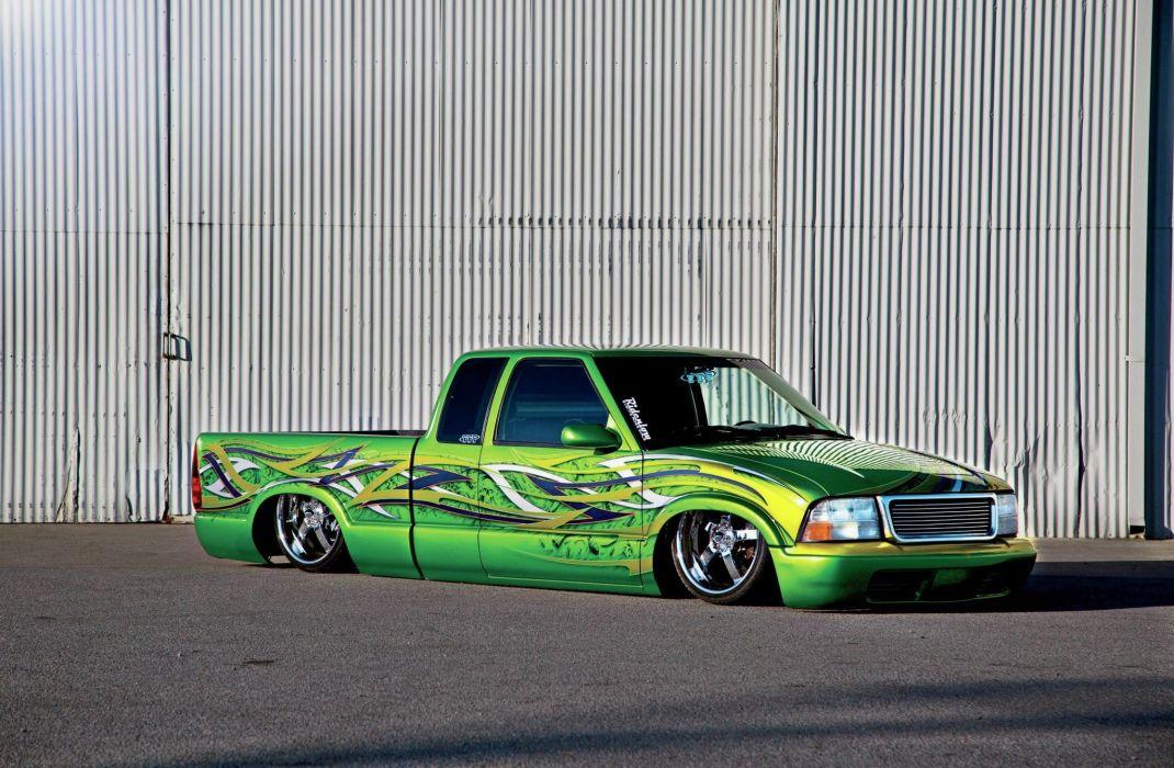 1997 GMC Sonoma custom tuning lowrider pickup wallpaper