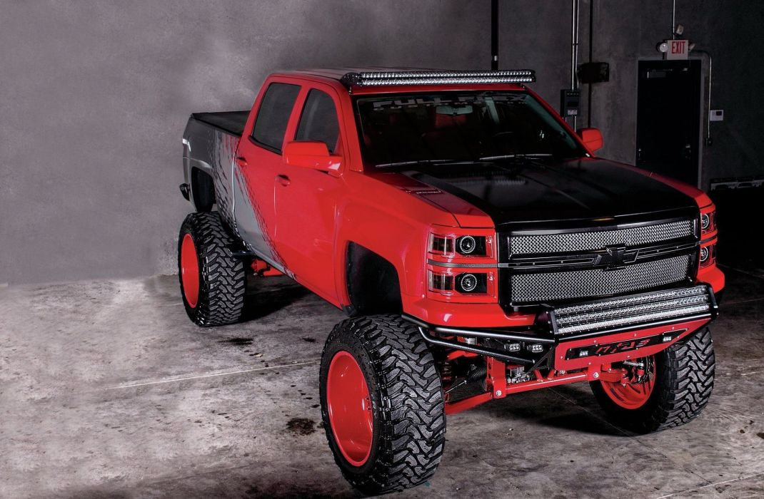 2014 Chevrolet Silverado Crew Cab 4x4 pickup tuning custom wallpaper