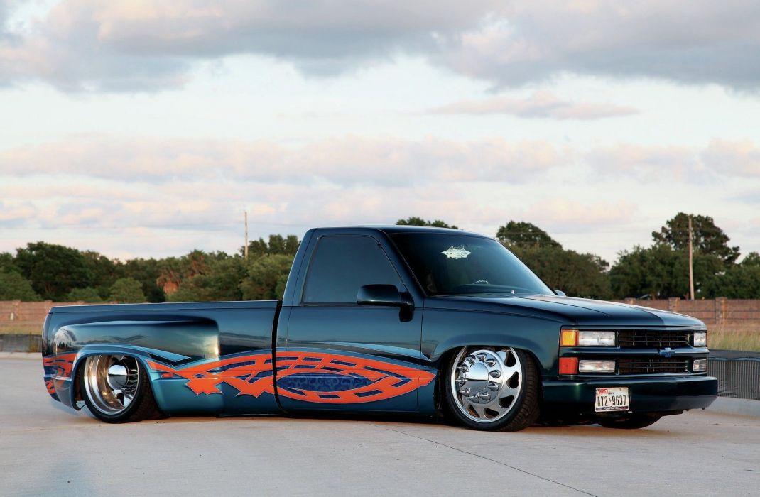 1995 GMC C1500 pickup tuning custom lowrider wallpaper