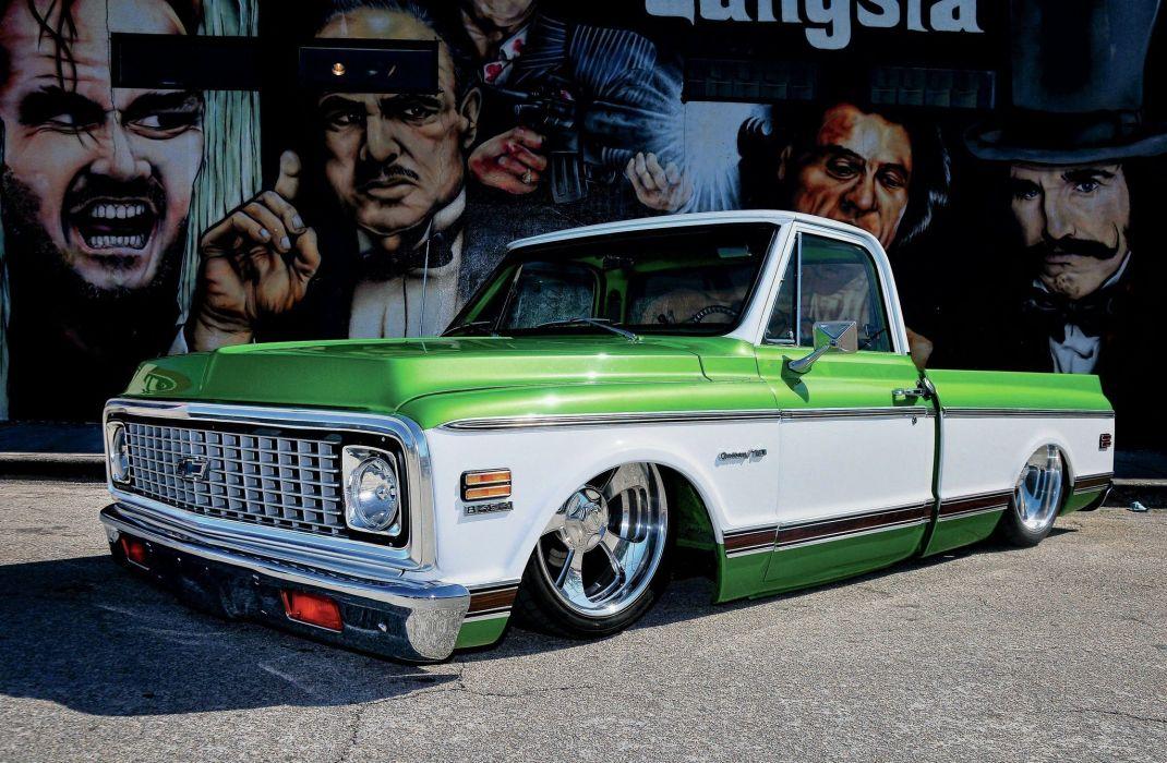 1972 Chevrolet C10 pickup custom tuning hot rod rods lowrider wallpaper
