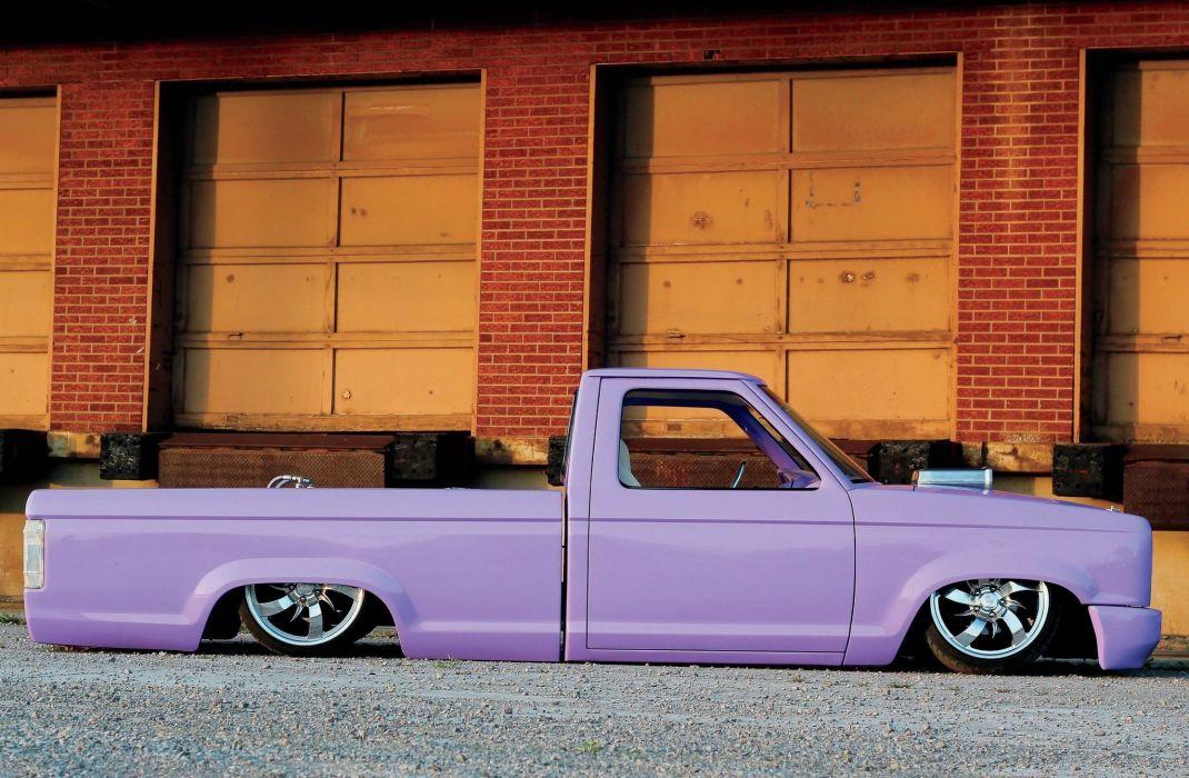 1989 Ford Ranger lowrider custom tuning pickup hot rod rods wallpaper