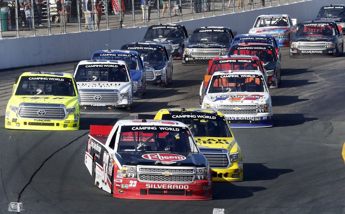 NASCAR race racing pickup truck wallpaper