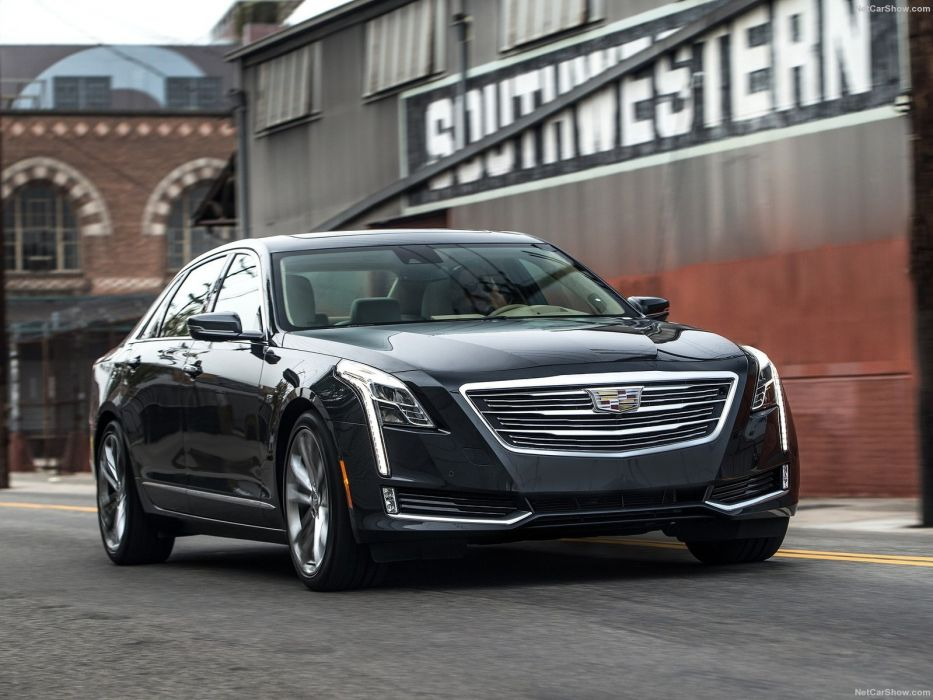 2016 Cadillac cars CT6 sedan black wallpaper