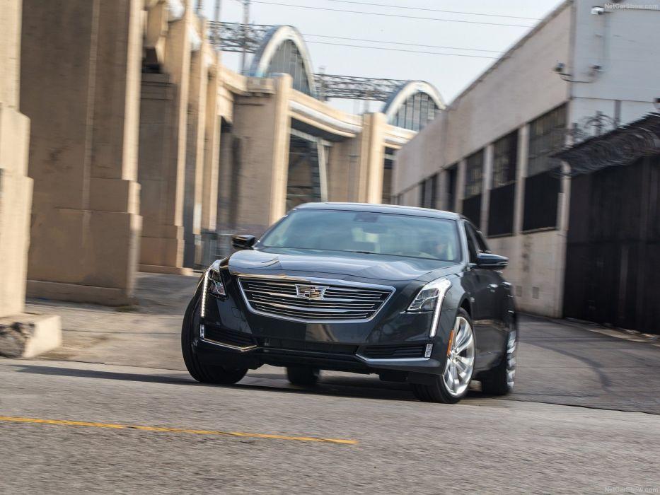 2016 Cadillac cars CT6 sedan black wallpaper