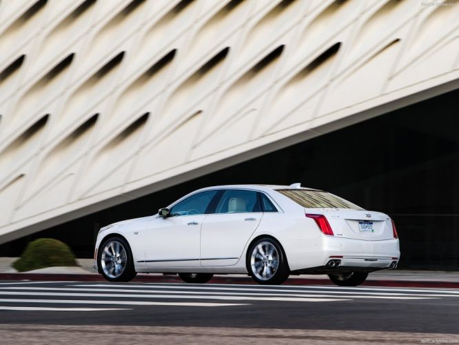2016 Cadillac cars CT6 sedan white wallpaper