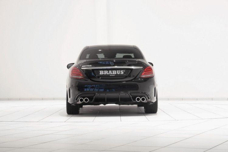 Mercedes C450 AMG 4Matic Brabus cars modified black sedan wallpaper