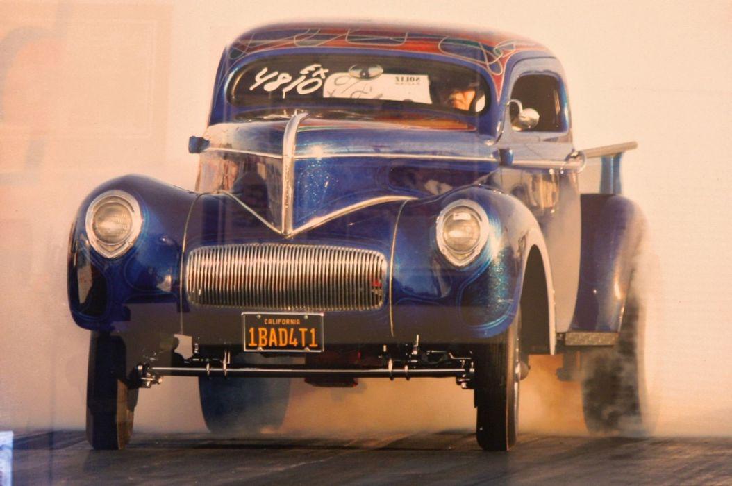 1941 Willys Pickup gasser hot rod rods custom retro drag race racing wallpaper