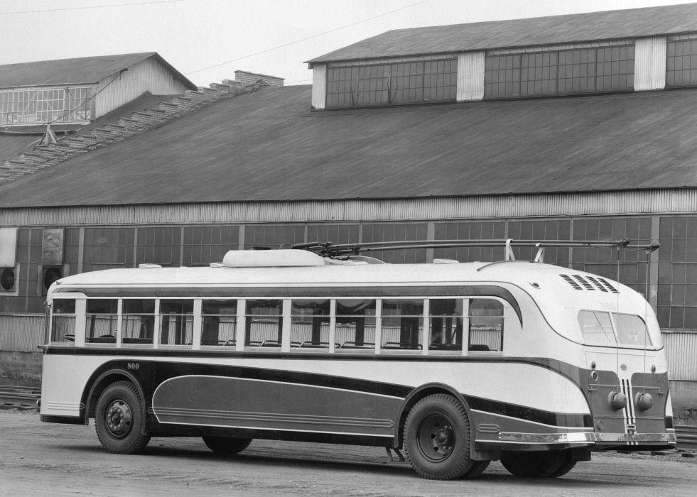 1940 Twin Coach Model-40 GTT bus retro transport semi tractor wallpaper