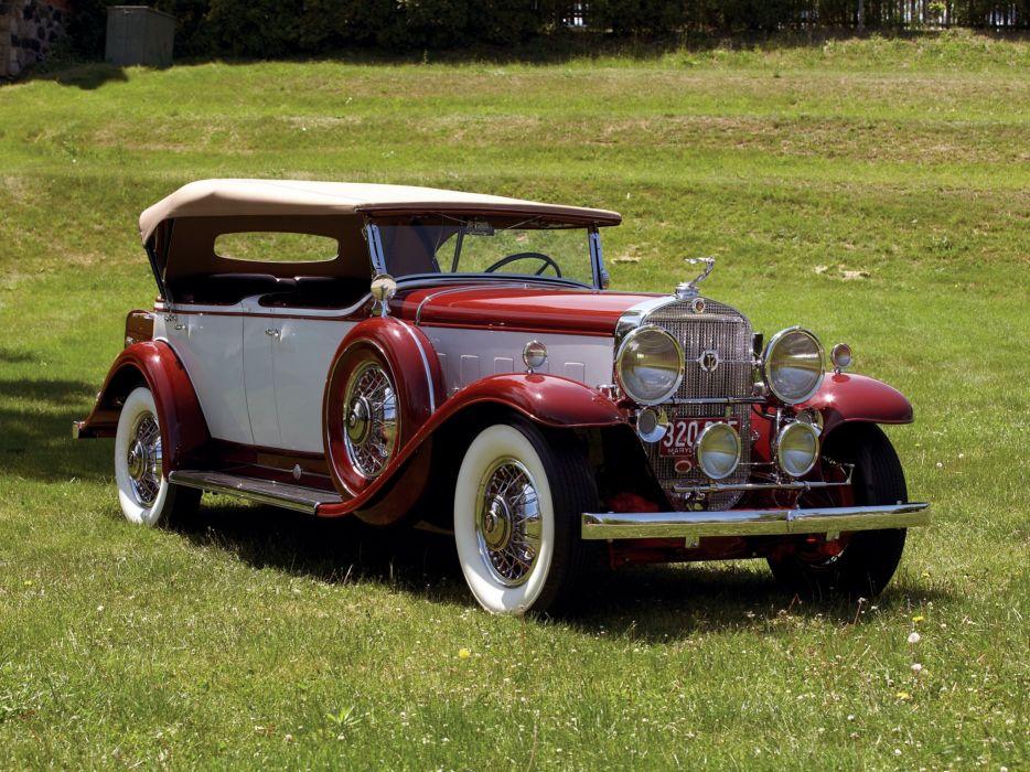 1931 Cadillac V12 370-A Phaeton Fleetwood luxury vintage wallpaper