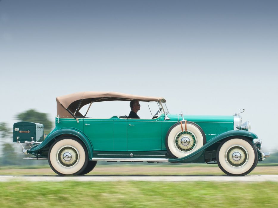 1931 Cadillac V12 370-A Phaeton Fleetwood luxury vintage wallpaper