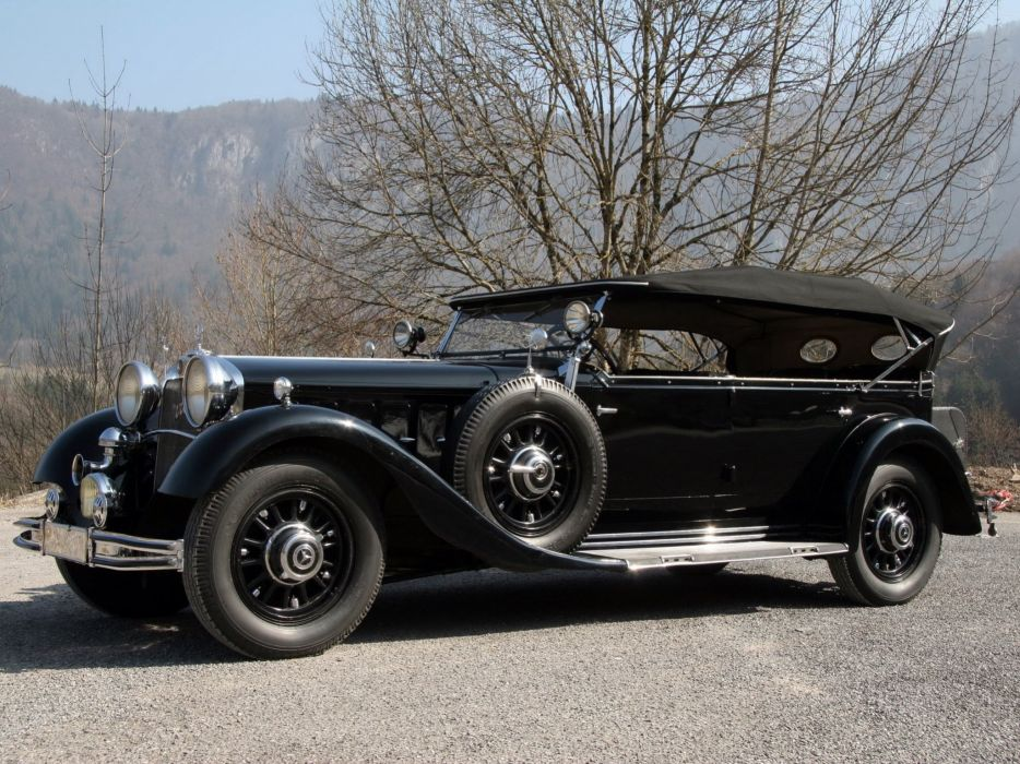 1934 Mercedes Benz Nurburg 500 Tourer W08 luxury vintage wallpaper