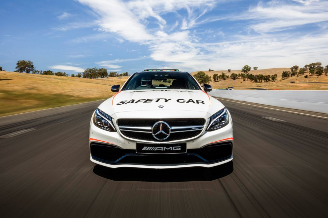 2016 Mercedes AMG C63 S Safety Car W205 pace race racing rally le-mans lemans wallpaper