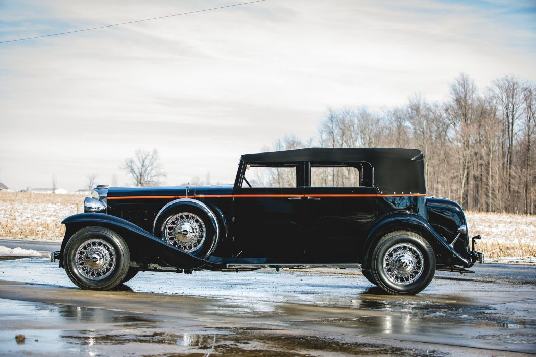 1931 Marmon Sixteen Convertible Sedan LeBaron vintage luxury wallpaper
