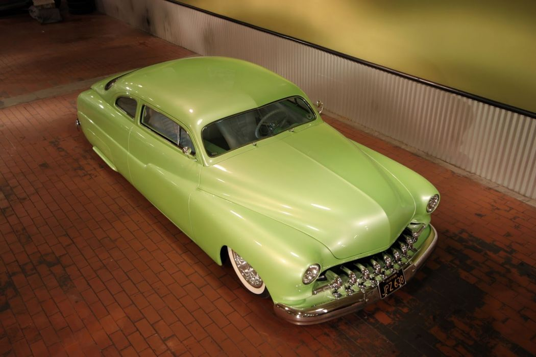 1950 Mercury lowrider custom retro wallpaper
