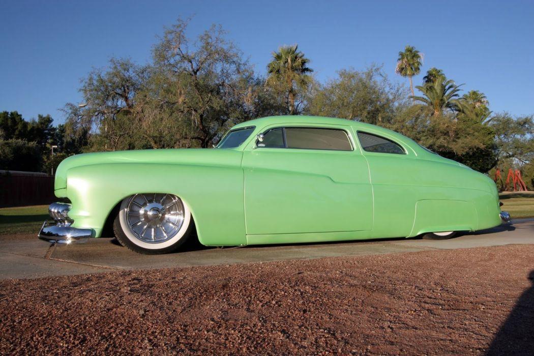 1950 Mercury lowrider custom retro wallpaper