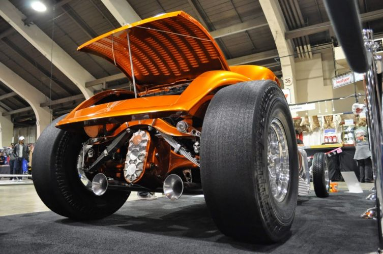 Ford Roadster custom hot rod rods vintage skull wallpaper