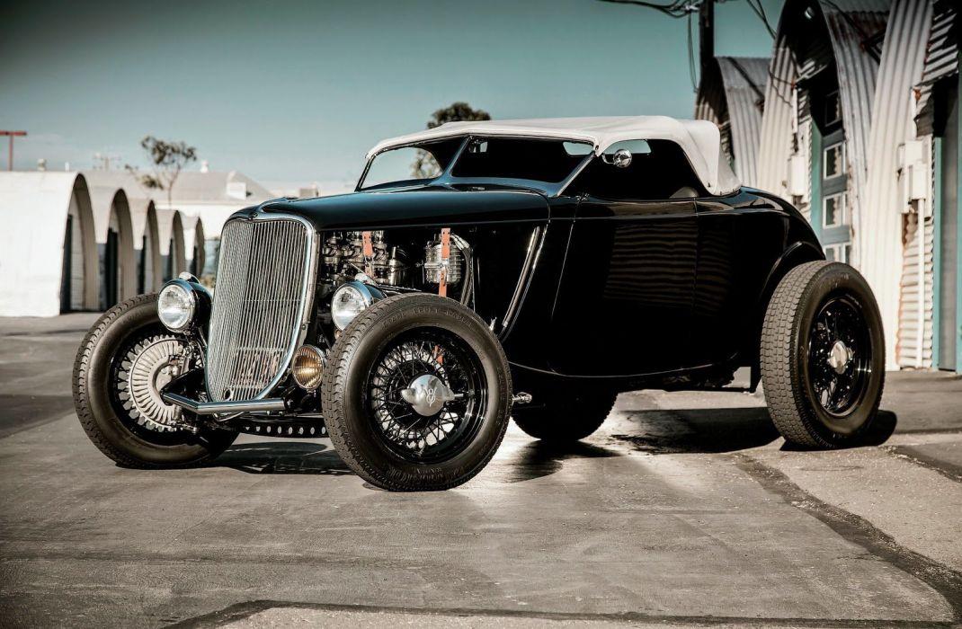 1933 Ford Roadster custom hot rod rods vintage wallpaper