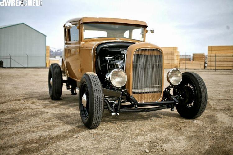 Ford Model-A custom hot rod rods vintage wallpaper