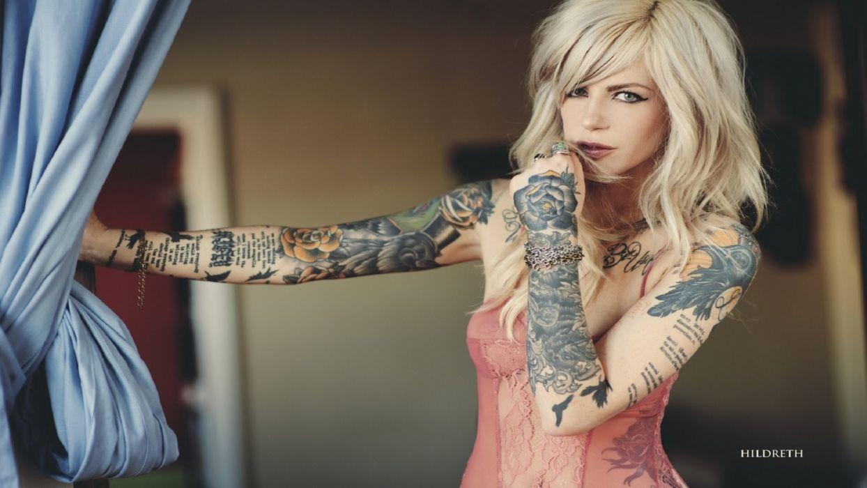 Mujer Rubia Tatuajes Wallpaper 1920x1080 881600 Wallpaperup
