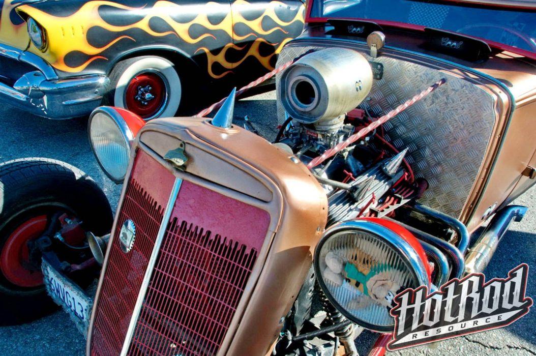HOT ROD rods custom retro wallpaper