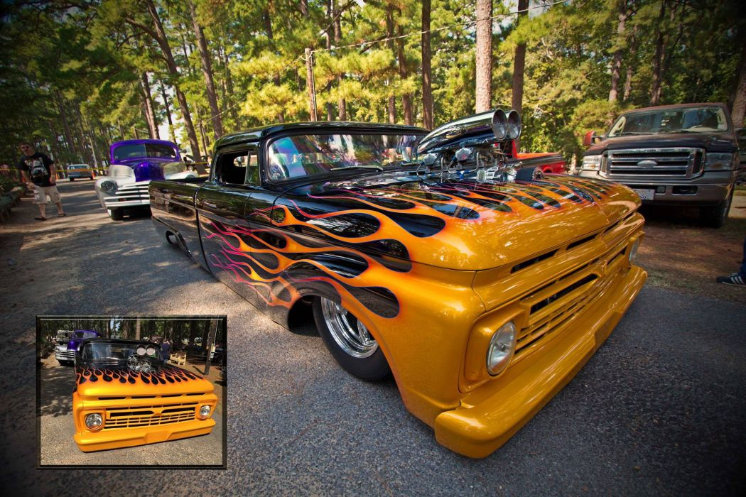 HOT ROD rods custom retro pickup truck wallpaper