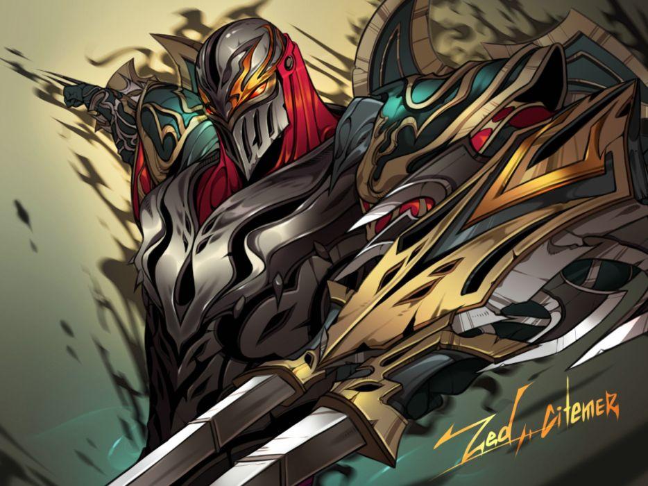 League Legends fantasy art artwork poster warrior wallpaper