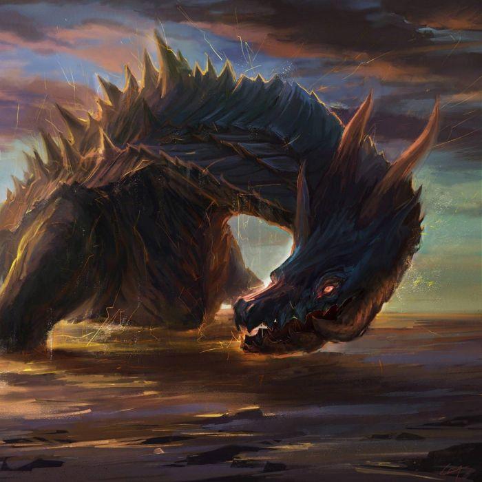 fantasy art artwork dragon monster creature wallpaper
