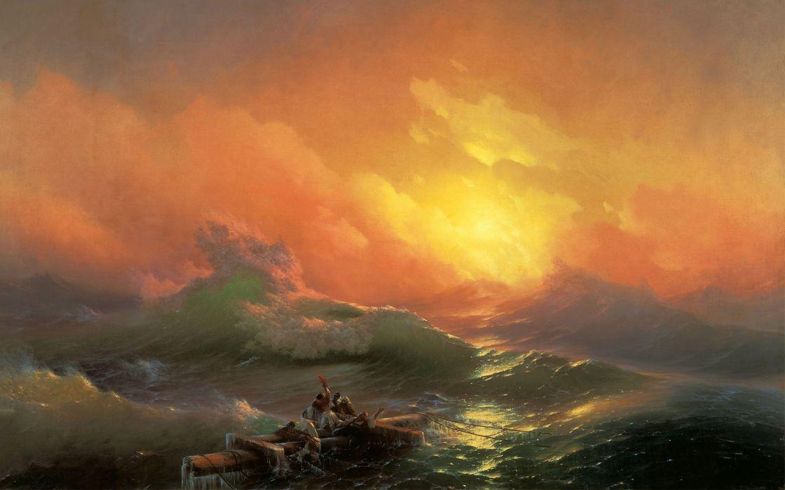 arte barroco cruz agua naufragos arte pintura wallpaper