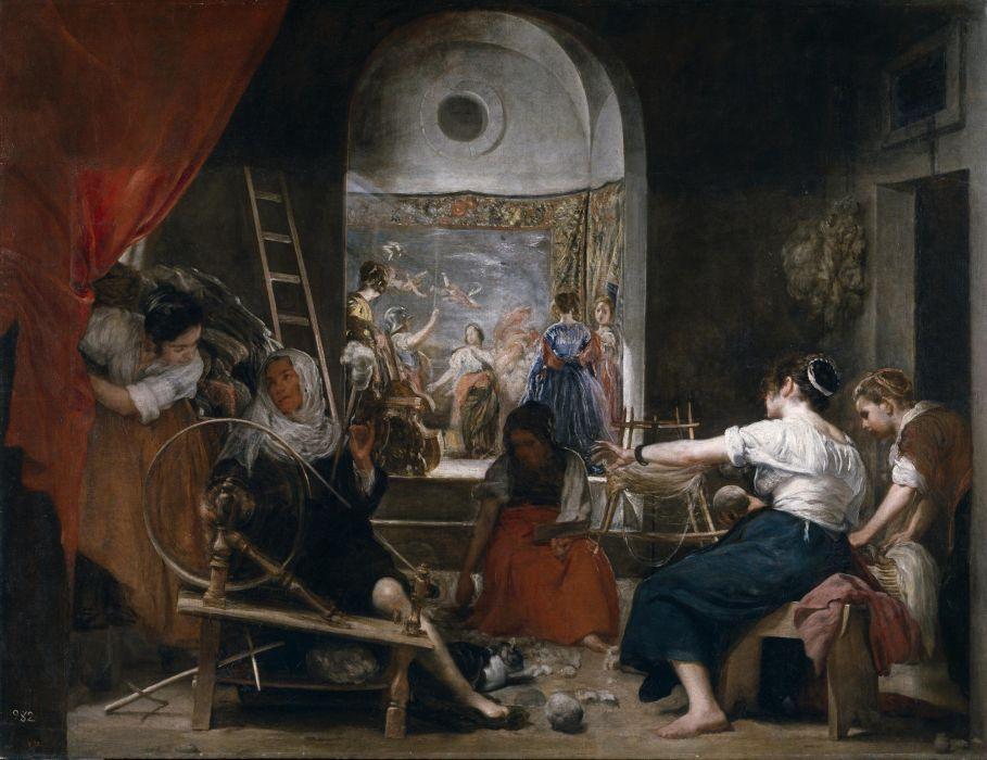 arte barroco las hilanderas velazquez pintura wallpaper