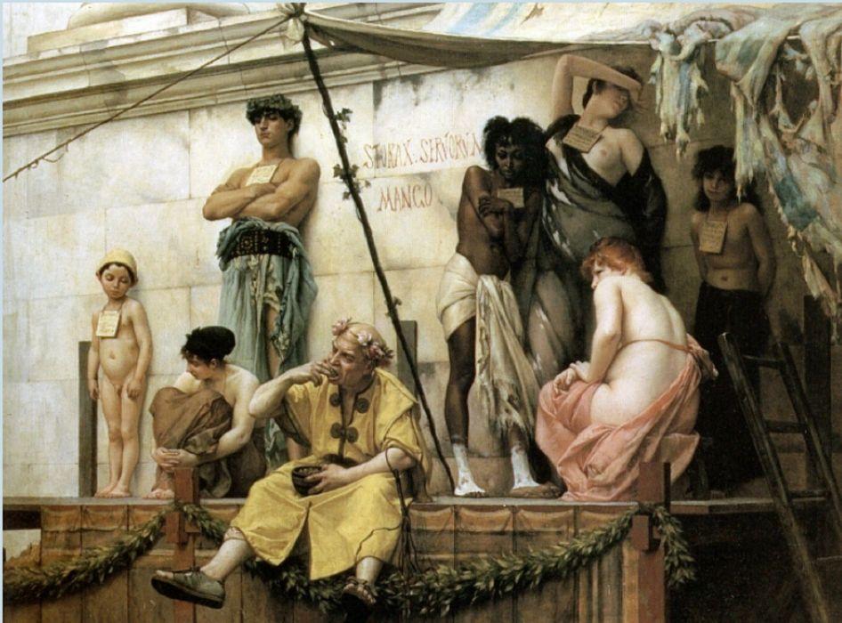 arte pintura barroco mercado esclavos roma wallpaper