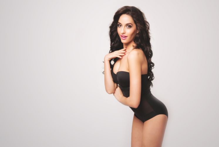 nora fatehi bollywood actress model girl beautiful brunette pretty cute beauty sexy hot pose face eyes hair lips smile figure wallpaper