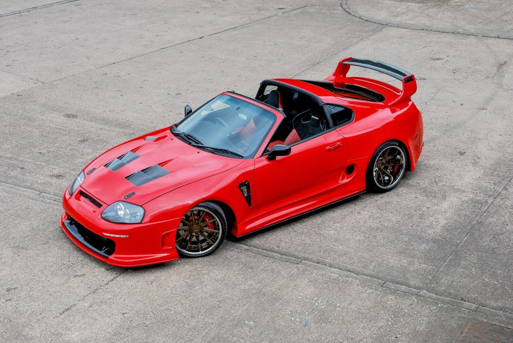 toyota supra red cars modified wallpaper