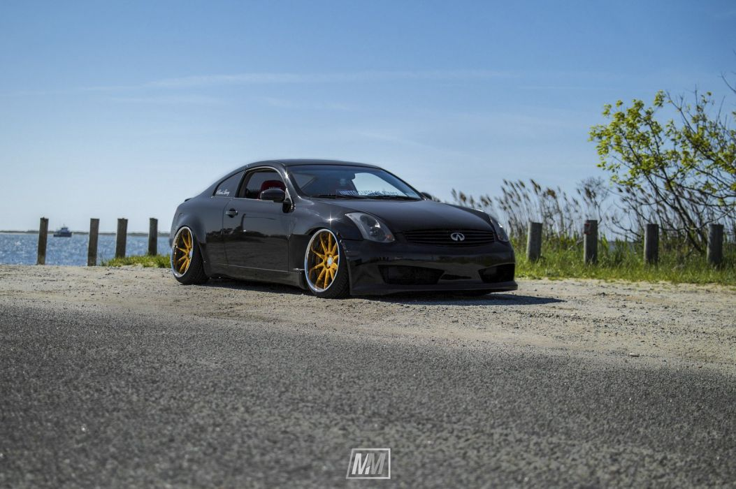 infiniti g35 coupe black cars modified wallpaper