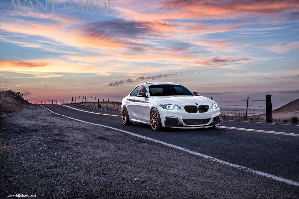 bmw m235i white cars modified wallpaper