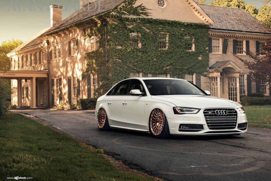 audi s4 white cars modified wallpaper