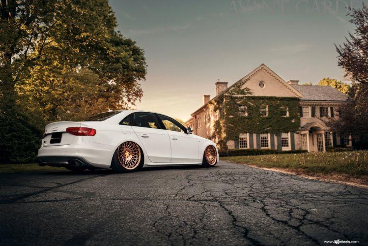 audi s4 white cars modified wallpaper