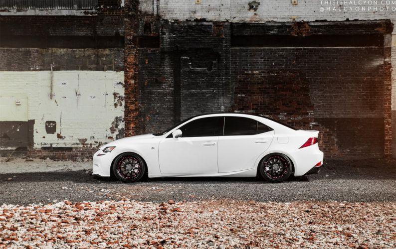lexus is350 sedan white cars modified wallpaper