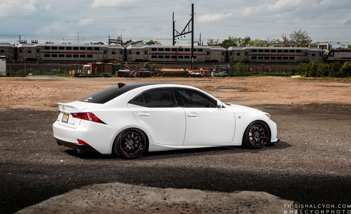 lexus is350 sedan white cars modified wallpaper