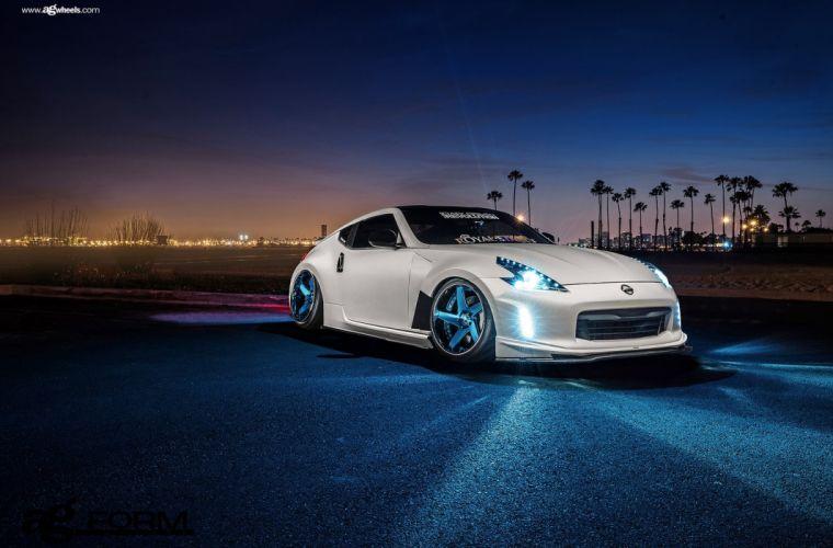 nissan 370z white cars modified wallpaper
