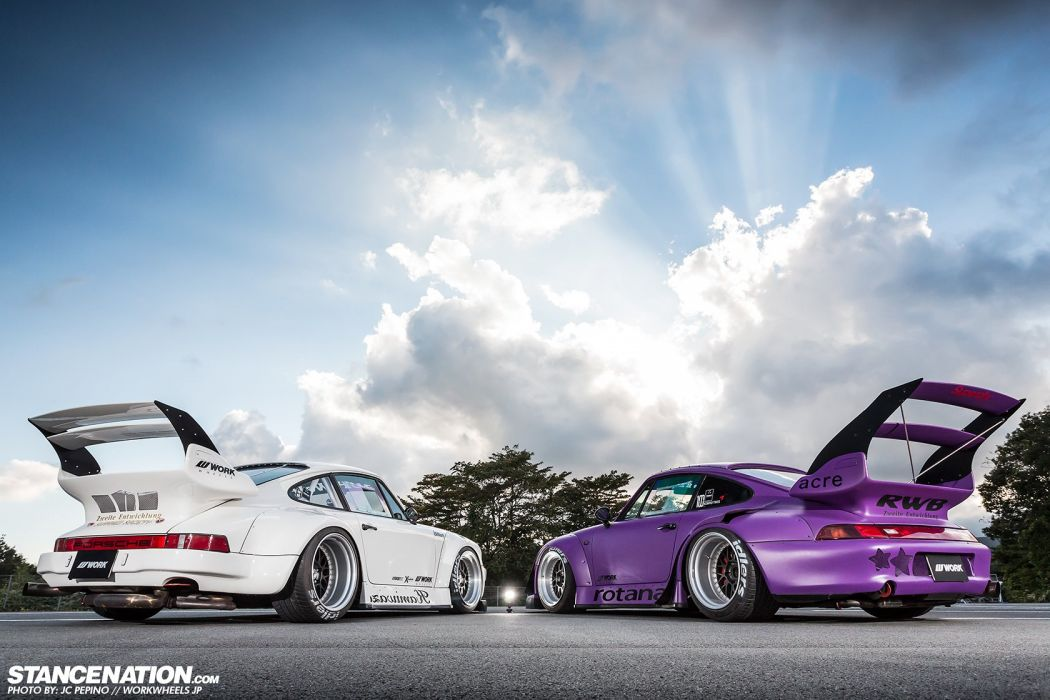 porsche 930 993 rwb body kit cars modified  wallpaper