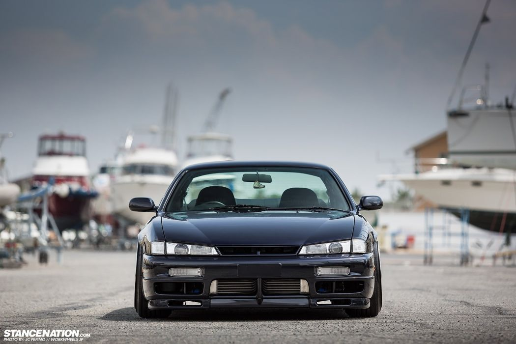 nissan sylvia s13 black body kit cars modified  wallpaper