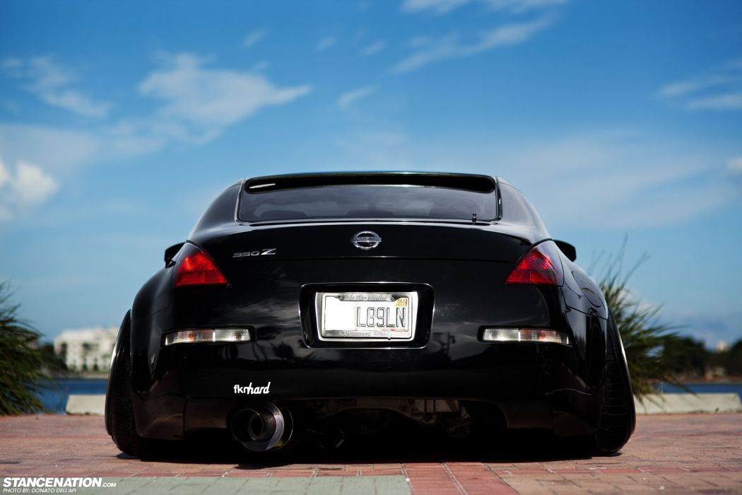 NISSAN 350Z black body kit cars modified  wallpaper