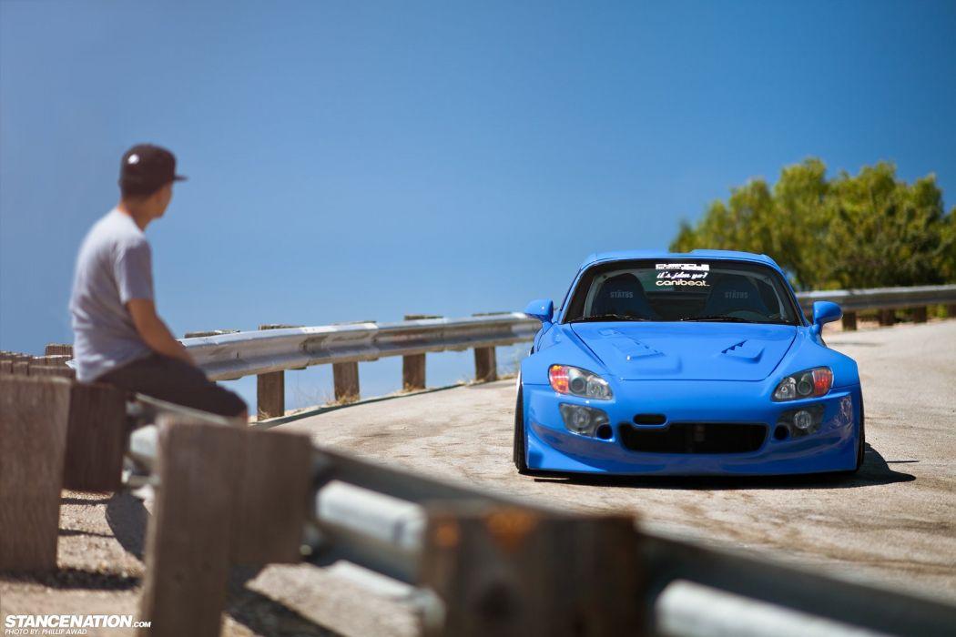 Honda S2000 blue body kit cars modified  wallpaper