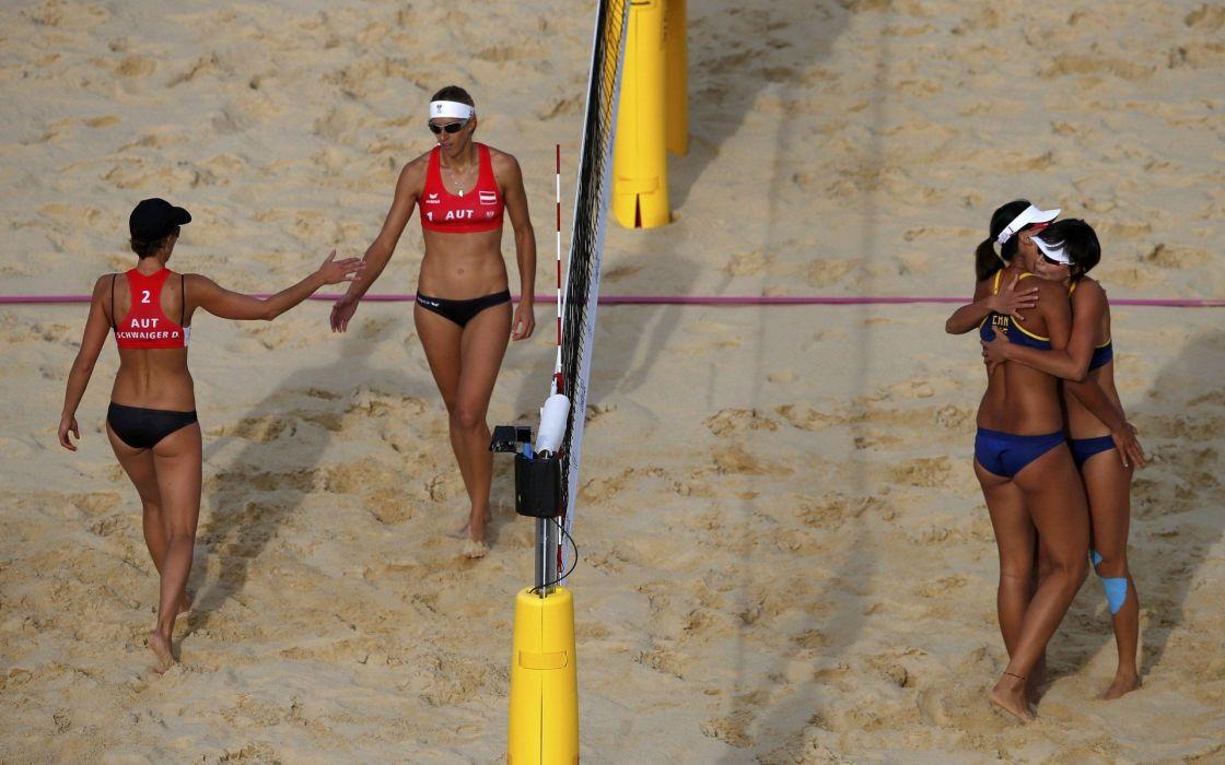 volley playa chicas deporte wallpaper