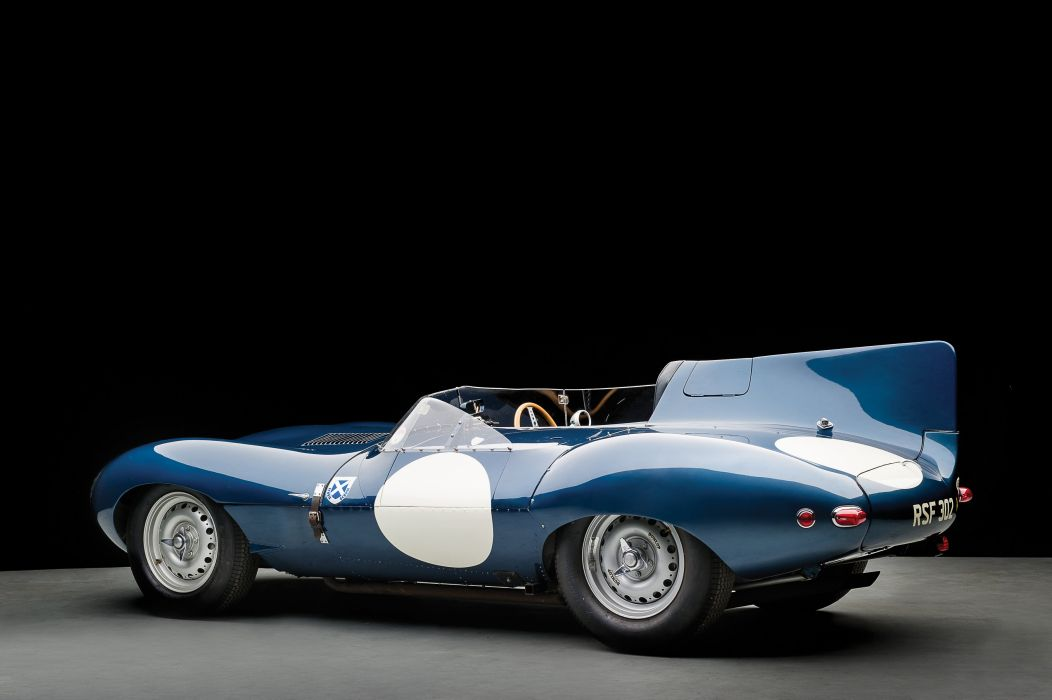 Jaguar D-Type Long Nose cars classic racecars 1955 wallpaper