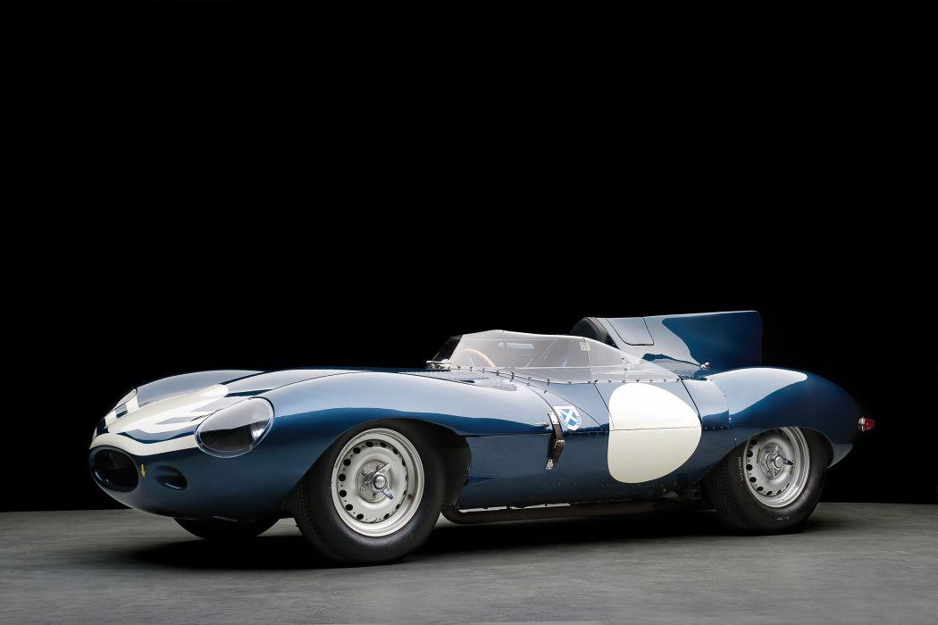 Jaguar D-Type Long Nose cars classic racecars 1955 wallpaper