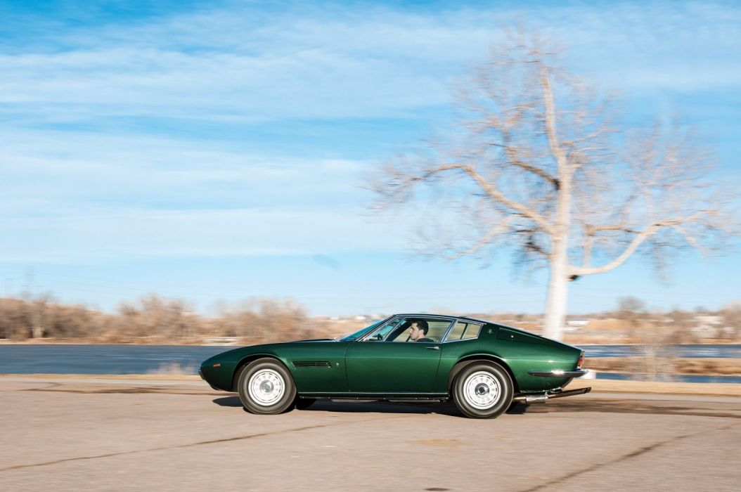 Maserati Ghibli cars coupe classic green 1967 wallpaper